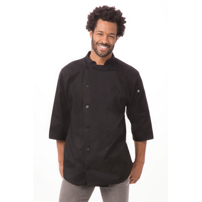 34 Sleeve Black Chef Shirt