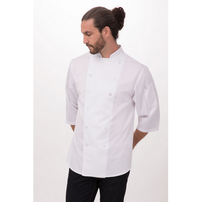 34 Sleeve White Chef Shirt