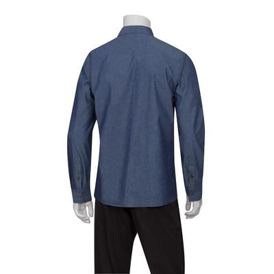 Detroit Indigo Blue Long-Sleeve Denim Shirt