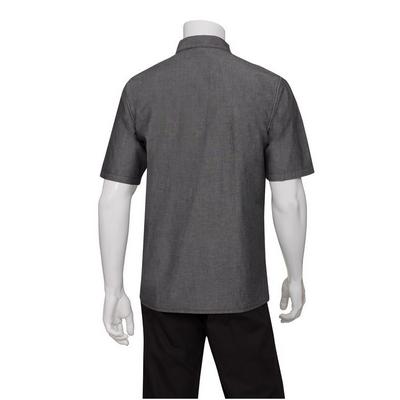 Detroit Black Short-Sleeve Denim Shirt