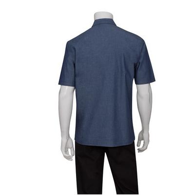 Detroit Indigo Blue Short-Sleeve Denim Shirt