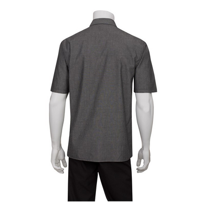 Detroit Black Striped Denim Shirt