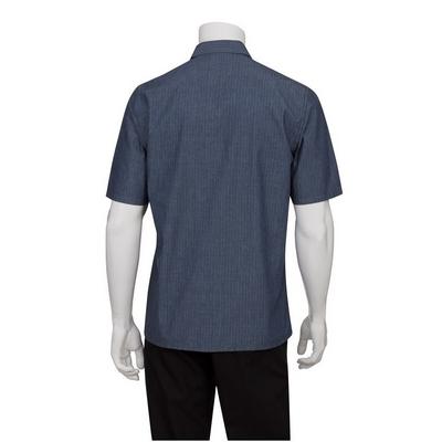 Detroit Striped Indigo Blue Denim Shirt