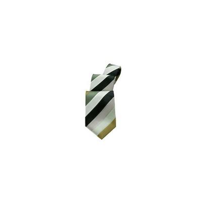 Green/Beige Stripe Tie