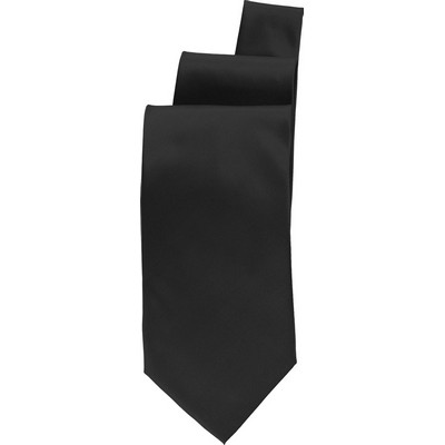 Black Satin Finish Tie