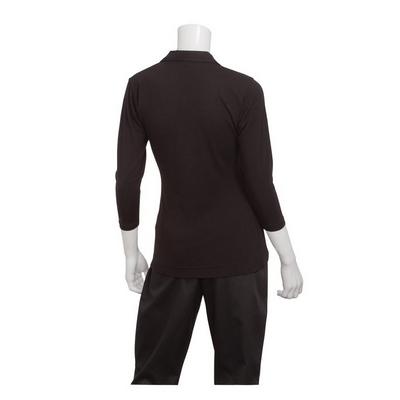 Definity Womens Black Knit Polo Shirt