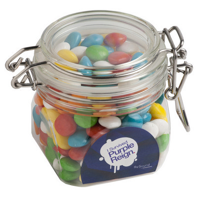 Chewy Fruits (Skittle Look Alike) In Canister 200G sticker