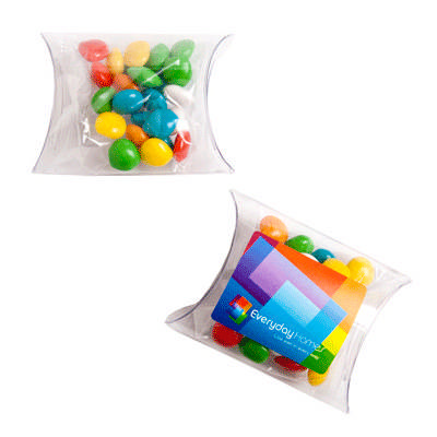 Chewy Fruits (Skittle Look Alike) In Pvc Pillow Pack 25G sticker