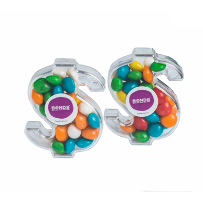 Acrylic Dollar Filled With Chewy Fruits 40G 1 Colour Pad Print Price Per Unit 1 Colour Pad Print