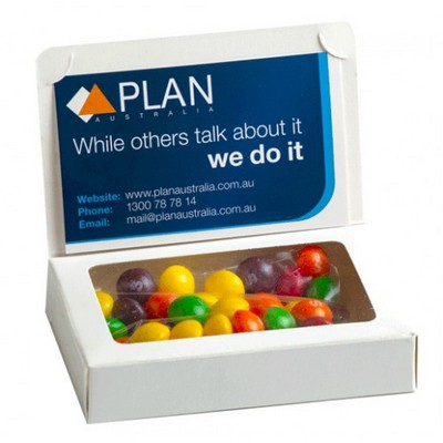 Bizcard Box with 50g Skittles - Sticker on front of box
