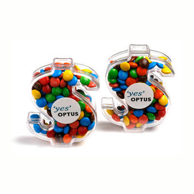 Acrylic Dollar Filled With Skittles 40Gmixed Colour Skittles Only Available sticker