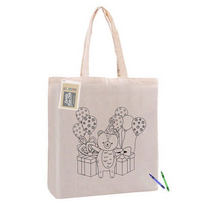 Colouring Calico Bag with Gusset (CCB002_DEX)