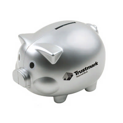 Coin Bank Pig Shape with Silver