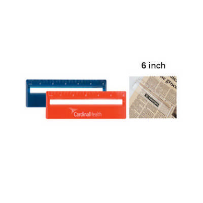 15CM RULER WITH COLOR  AND MAGNIFYING