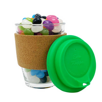Jelly Bean In Cork Band Glass Coffee Cup