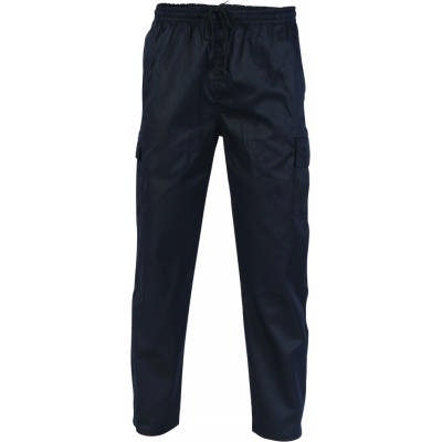 200gsm Polyester Cotton Drawstring Cargo Chef Pants