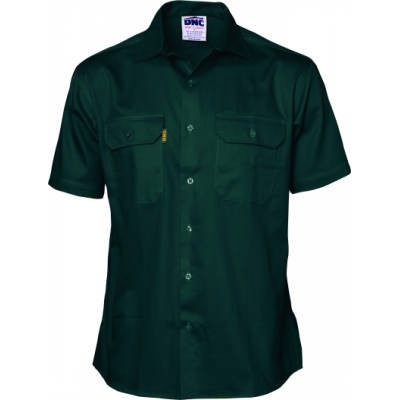 Cotton Drill Woark Shirt - Short Sleeve