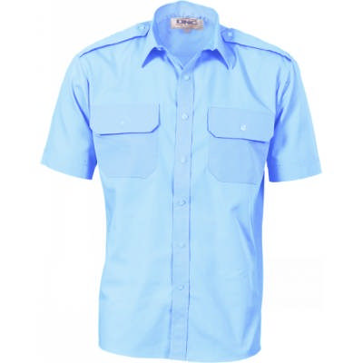 110gsm Epaulette Polyester Cotton Work Shirt - S/S