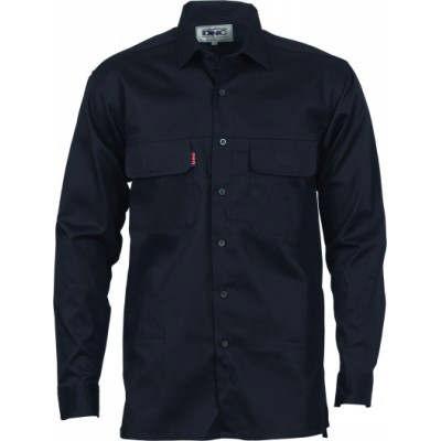 155gsm Three Way Cool Breeze Cotton Shirt, Under Arm & Uper Back Vents,L/S