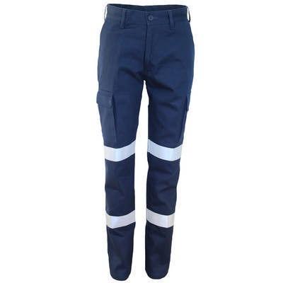 Ladies Double Hoops Taped Cargo Pants