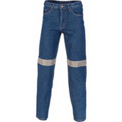 13.75OZ Taped Stretch Jeans, 3M8906 R/Tape