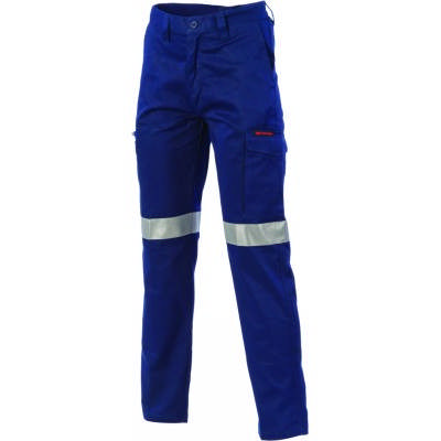 265gsm Digga Cool-Breeze Cotton Cargo Taped Pant with 4 Airflow Eyelets on Crotch, 3M 8906 R/Tape
