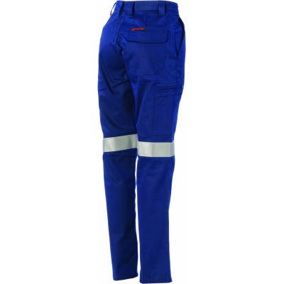 265gsm Ladies Digga Cool-Breeze Cargo Taped Pants with 4 Airflow Eyelets on Crotch, 3M8906 R/Tape