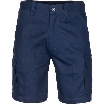 Middle Weight Cotton Double Angled Cargo Shorts ---with shorter leg length
