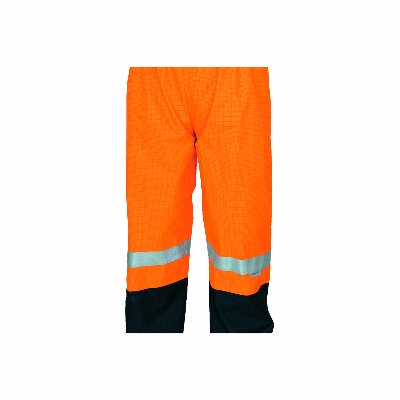 300D Polyester/PU Hivis FR & Anti-static rain Pants with 3M8935 FR Reflective Tape. Availability-