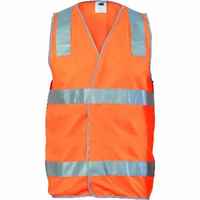 Day/Night Safety Vest with Hoop & Shoulder CSR R/Tape
