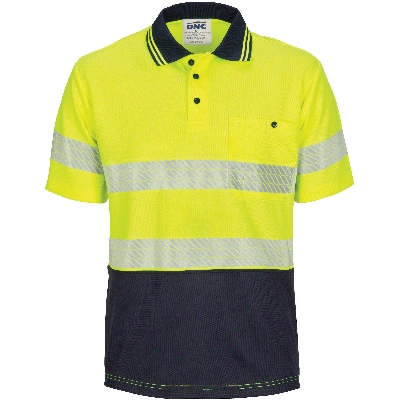 HiVis Segment Taped Micromesh Polo- Short Sleeve