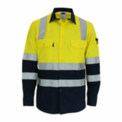 155gsm HiVis 2 Tone Cool-Breeze Cotton Shirt with Under Arm Airflow Vents, Cross Back & Additional C