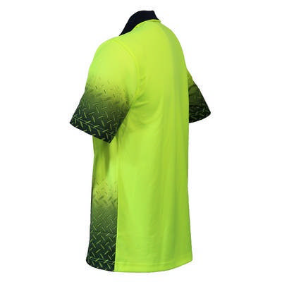 HiVis Sublimated Diamond Plate Polo