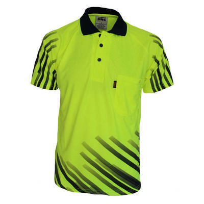 HiVis Sublimated Full Stripe Polo