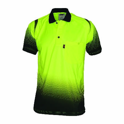 175gsm HiVis Cool-Breathe Hivis Sublimated Ocean Polo, S/S, Availability- End of October