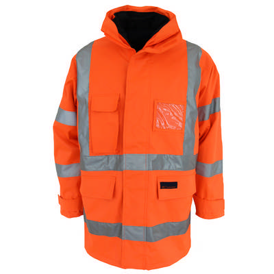 HiVis HPattern 6in1 Breathable Rain Jacket Bio-Motion Tape