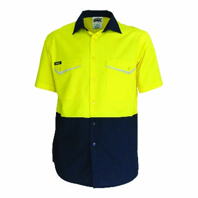 Hivis 2 tone Ripstop Shirt, S/S