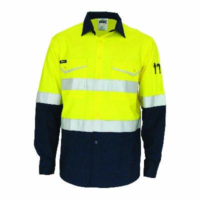 HiVis 2Tone Ripstop Shirt w/ CSR RTape-LS