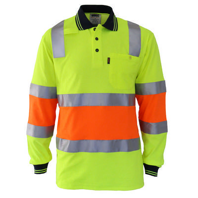 HiVis Cool-Dry 2T Bio-Motion DN Polo-LS