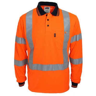 HiVis X Back & Bio-Motion DN Polo - LS