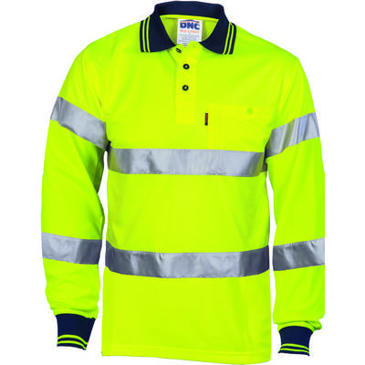 HiVis Shoulder Stripes Bio-Motion DN Polo-LS