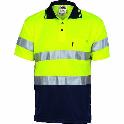 HiVis DN Cool Breathe Polo w/ CSR RTape-SS