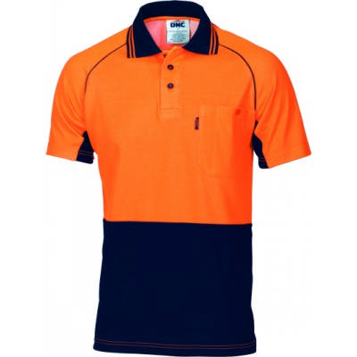 HiVis Ctn Backed Cool-Breeze Contrast Polo-SS