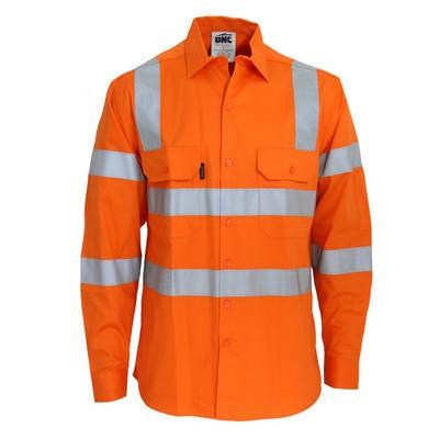 HiVis RW CSR RTape Vic Rail Shirt - LS