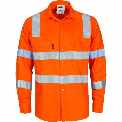 HiVis DN LW Vic Rail Cotton Shirt