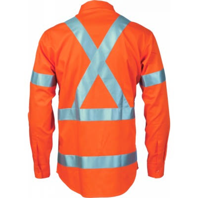 155gsm HiVis Cool-Breeze Cotton Shirt with Under Arm Airflow Vents, Cross Back & Additional 3M8906 R