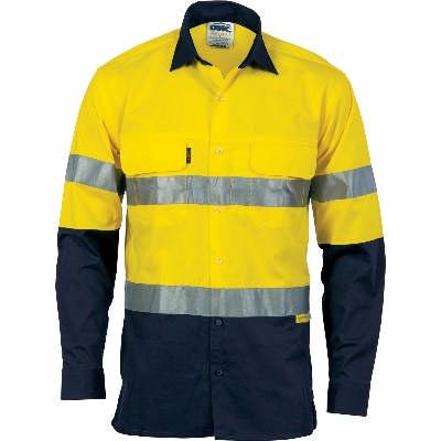HiVis 3Way Cool-Breeze Ctn Shirt w/ Gusset Sleeve, 3M RTape-LS