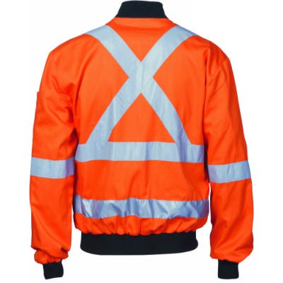 HiVis Ctn Bomber Jacket w/ X Back & Additional CSR RTape Back