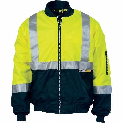 200D Polyester/PVC Hi-Vis Two Tone Flying Jacket with CSR Reflective Tape, Plastic Zipper. Availabili