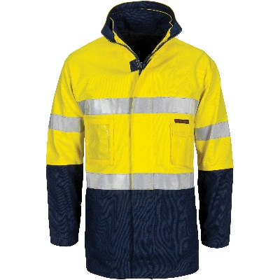 HiVis 4in1 Ctn Drill Jacket w/ CSR RTape